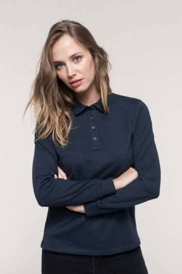 Ladies' Long Sleeve Jersey Polo Shirt