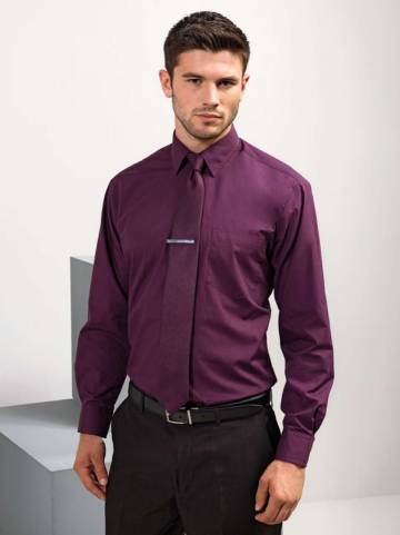 Men's Long Sleeve Poplin Shirt